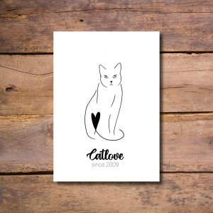 Individuelles Poster Cat